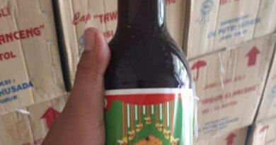 6.659 Botol Jamu Tawon Klanceng Digilas