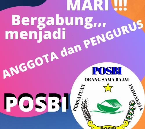 MARI BERGABUNG DI POSBI; ORGANISASI PERSATUAN ORANG SAMA BAJAU INDONESIA